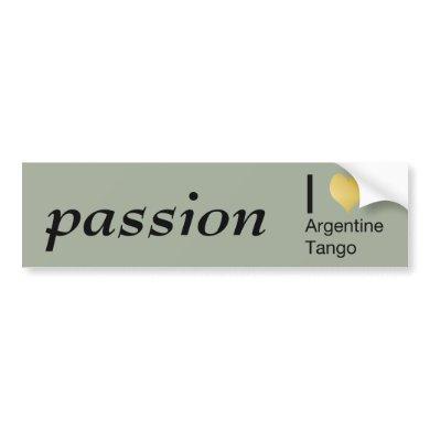 I Heart Argentine Tango Bumper Sticker