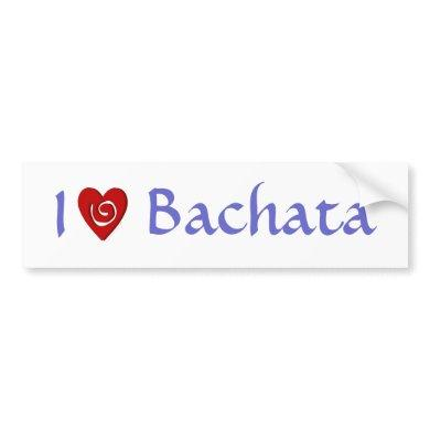 I Love Bachata Heart Latin Dancing Custom Bumper Sticker