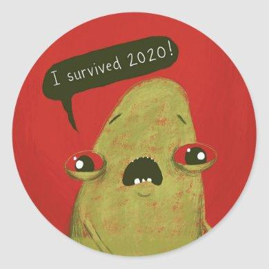 I survived 2020 sticker Gregg by Laura Irrgang red