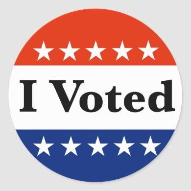 I Voted 2022 Elections Classic Round Sticker