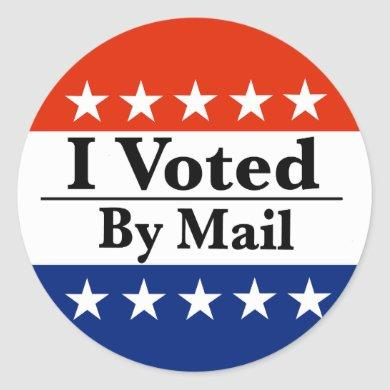I Voted By Mail Classic Round Sticker