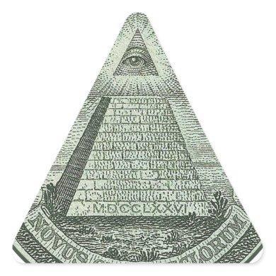 Illuminati - All seeing eye Triangle Sticker