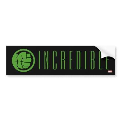 Incredible Hulk Logo Bumper Sticker