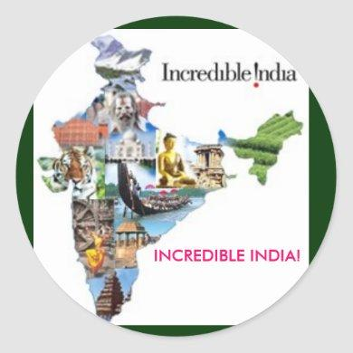 incredible india, INCREDIBLE INDIA! Classic Round Sticker