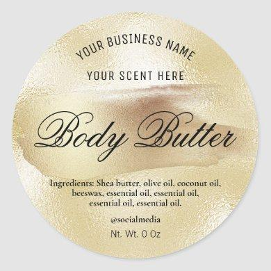 Ink And Foil Product Labels In A Gold Style