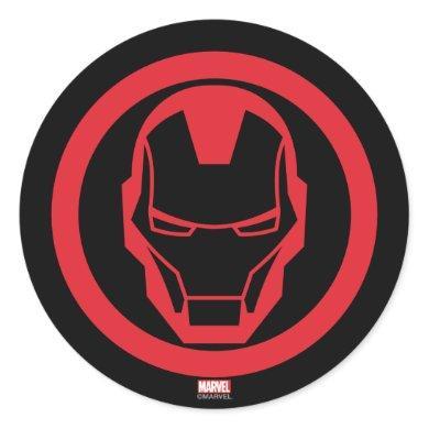 Invincible Iron Man Classic Round Sticker