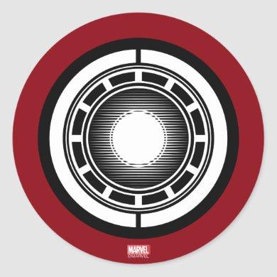 Iron Man Arc Icon Classic Round Sticker