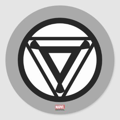 Iron Man Arc Reactor Icon Classic Round Sticker
