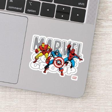 Iron Man, Captain America, Spider-Man Comics Group Sticker