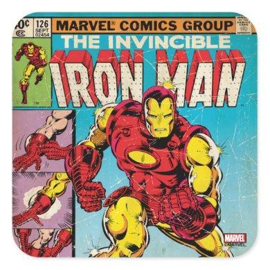 Iron Man Comic #126 Square Sticker