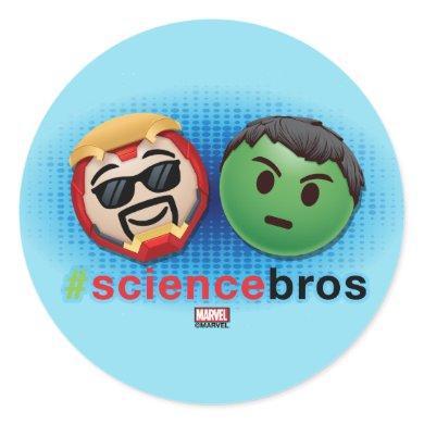 Iron Man & Hulk #sciencebros Emoji Classic Round Sticker