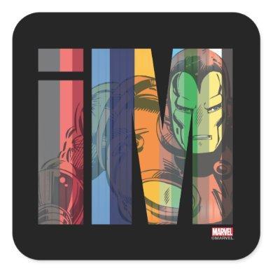 Iron Man iM Character Graphic Square Sticker