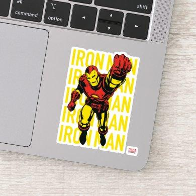 Iron Man Pose With Repeated Name Sticker