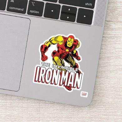 Iron Man Retro Flying Sticker