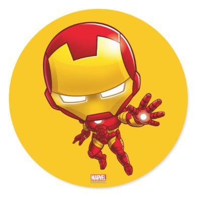 Iron Man Stylized Art Classic Round Sticker