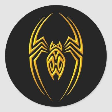 Iron Spider – Yellow and Black Classic Round Sticker