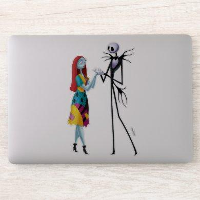 Jack and Sally Holding Hands Sticker