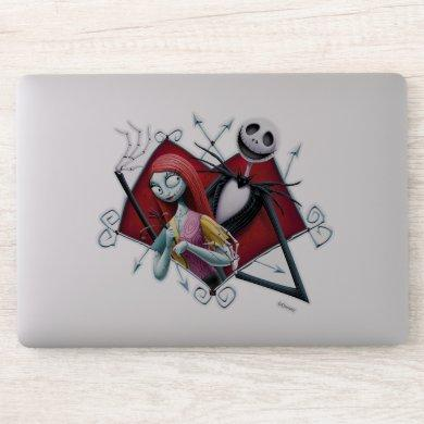 Jack and Sally in Heart Sticker