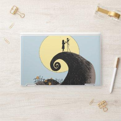 Jack and Sally | Moon Silhouette HP Laptop Skin