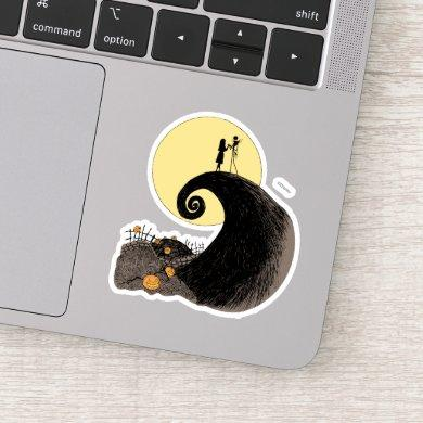 Jack and Sally | Moon Silhouette Sticker