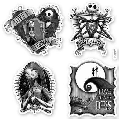 Jack and Sally Moonlight, Madness, & Love Sticker