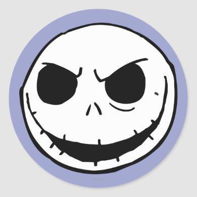 Jack Skellington - Head Classic Round Sticker