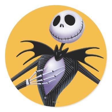 Jack Skellington | Posing Classic Round Sticker