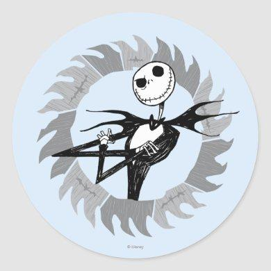 Jack Skellington | Saw Blade Frame Classic Round Sticker