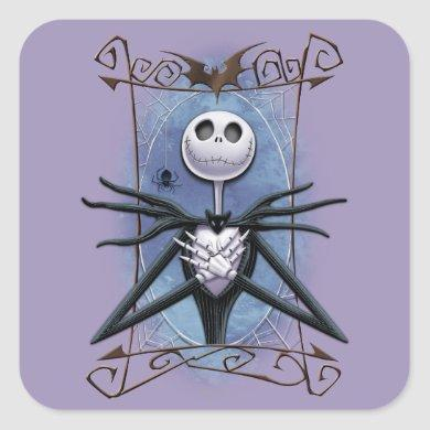 Jack Skellington | Spider Web Frame Square Sticker