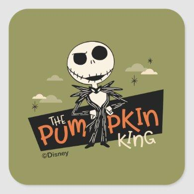 Jack Skellington the Pumpkin King Square Sticker