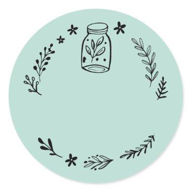 Jar / Spice Blank Sticker Label