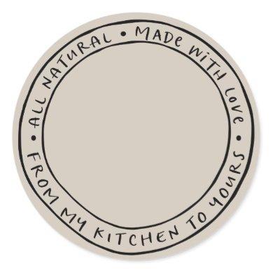 Jar / Spice Natural Organic Sticker Label