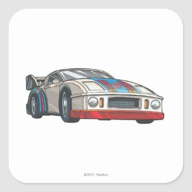 Jazz Car Mode Square Sticker