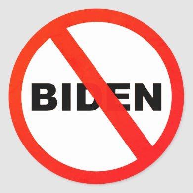 Joe Biden anti popular political Classic Round Sticker