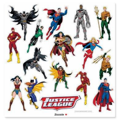 Justice League Contour Sticker Set