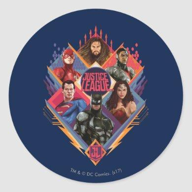 Justice League | Diamond Hatch Group Badge Classic Round Sticker