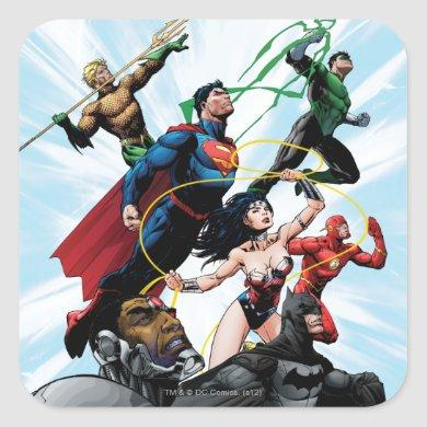 Justice League - Group 1 Square Sticker