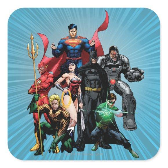 Justice League - Group 2 Square Sticker