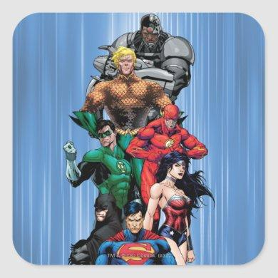 Justice League - Group 3 Square Sticker