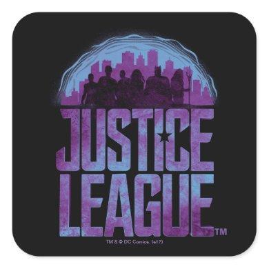 Justice League | Justice League City Silhouette Square Sticker