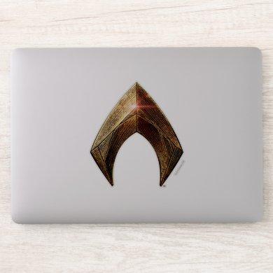 Justice League | Metallic Aquaman Symbol Sticker
