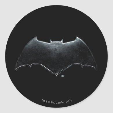 Justice League | Metallic Batman Symbol Classic Round Sticker