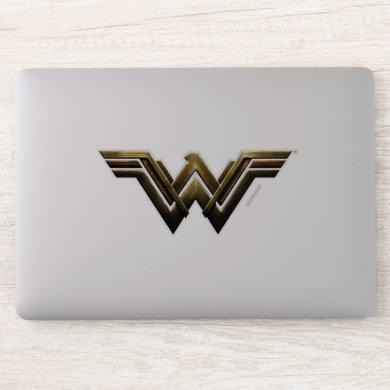 Justice League | Metallic Wonder Woman Symbol Sticker