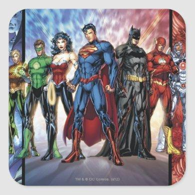 Justice League | New 52 Justice League Line Up Square Sticker