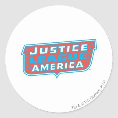 Justice League of America Logo Classic Round Sticker