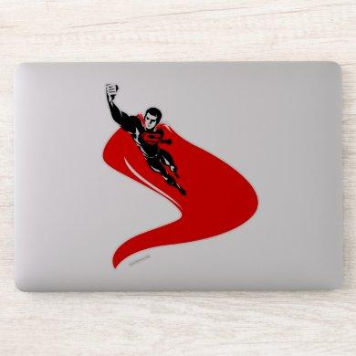 Justice League | Superman Flying Noir Pop Art Sticker