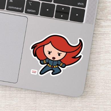 Kawaii Black Widow Dash Sticker