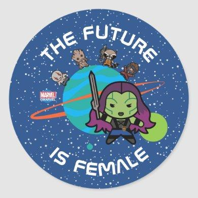 Kawaii Guardians of the Galaxy Planet Graphic Classic Round Sticker