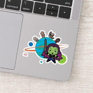 Kawaii Guardians of the Galaxy Planet Graphic Sticker