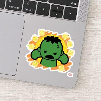 Kawaii Hulk With Marvel Hero Icons Sticker